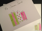 For Someone Special Pink Green Gift Wrapped Presents/Handpainted Watercolor Greeting Card