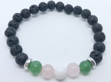 Aromatherapy Diffuser Jade, Rose Quartz and White Howlite