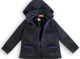 Double-faced Loden Outdoor Jacket gray-purple unisex