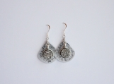 Filigree pendant earrings with Black Druzy