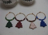 Mini Tree on Copper Holiday Wine Charms