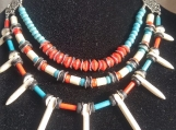 3 row Native-inspired necklace