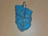 Blue Sea Glass Pendant