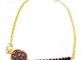 Druzy Beaded Bracelet, Gold Druzy Bracelet, Druzy Geode Bracelet