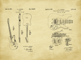 Fender Guitar Patent Art Duo-U.S. shipping included