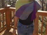 Gorgeous asymmetrical lightweight shawl