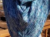 Hand knit sparkly shawl