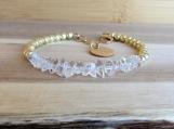 Herkimer Diamond Bracelet, April Birthstone, Modern Bridesmaid