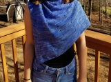 Lightweight knit shawl in a fingering weight merino wool