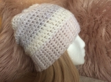 Multicolour Crochet Hat (White)