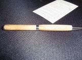 Olive Wood Pen - Silver