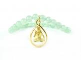 Sevasoul Shiva Pendant Bracelet - Green Aventurine Beads