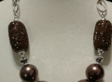 Silver & Bronze Big Beads Necklace