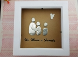 We Made A Family Personalised Pebble Art Frame  Add Your Family