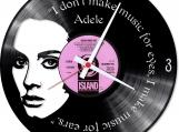 Adele 2 handmade vintage vinyl design clock  -