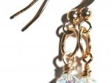 Blue Crystal Earrings, Girlfriend Gift, Bridesmaid Gift,