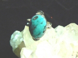 Candelaria Turquoise and Sterling Silver Ring Size 8.75 US