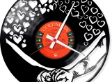 common way Loop-store handmade vintage vinyl design clock