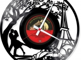 Engagement in Paris Loop-store handmade vintage vinyl clock