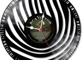 Finger print Loop-store handmade vintage vinyl clock  - clone