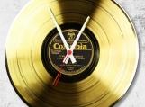 Gold Loop-store handmade vintage vinyl clock