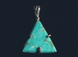 Kingman Triangle Turquoise and Sterling Silver Pendant