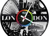 London silver  Loop-store handmade vintage double vinyl clock