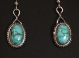 Sterling Silver and Godber/Burnham Turquoise earrings