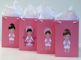 12 Spa Party Favor Bag-Spa Candy Bag-Spa Treat Bag-Spa Gift Bag