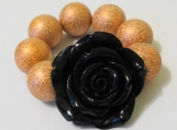 Child's Black and Copper Flower Bracelet