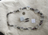 Clear Crystal & Iridescent Necklace set