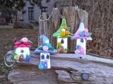 Fairy house plymer clay key chain