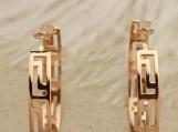 Gold Greek Hoop Clip On Earrings