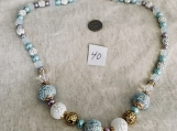 Mauve & light blue Necklace