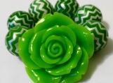 Toddler's Chunky Green Flower Bracelet
