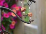 Bee Earrings / Honey Bee Earrings / Beehive Earrings