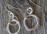 """Molten Organic Earrings. 1.75"""""""