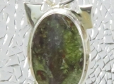 Sterling Silver Pendant with Green & Red Jasper II