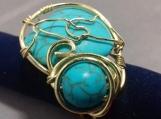 Turquoise Heart Ring - PARI021