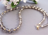 14KT Gold Swarovski Black Diamond Necklace