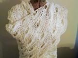 White Shawl, White Large Scarf, white lace shawl, snuggle shawl