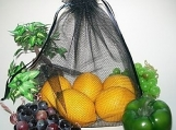 NEW..BLACK...4 REUSABLE PRODUCE BAGS......DOUBLE THICK
