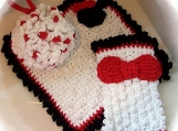 Crochet PATTERN for Matty and Mandy Mouse Spa Bath Set in PDF