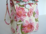 Lotus Reusable Reversible Lunch Bag Laminated Cotton