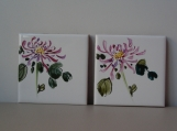 Mini Coaster Set - Crysanthemums