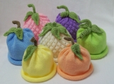 Sweet Baby Fruit and Veggie Hats in Pastels Great Photo Prop