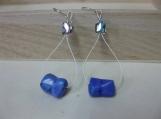 Purple/Blue Howlite Earrings