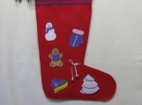 Christmas Stocking with Purple Decorations