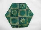Green and Gold Christmas Coasters