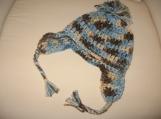 Crochet Earflap Hat with Pom-Pom Size 6mos -1yr